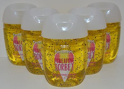 5 Bath&Body Works Piña Sorbete Pocketbac Antibacterias Mano Gel Desinfectante