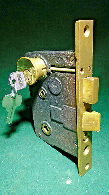 "LOCKWOOD T-5000 ENTRY MORTISE LOCK w/CYLINDER & KEYS - 2 1/2"" BACKSET (13861-2)"