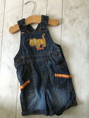 Baby Boy's Clothes 6-9 Mths - Marks & Spencer's Lion Theme Denim Dungarees 🦁🦁
