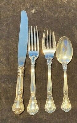 Gorham Chantilly Sterling Silver Flatware Set Service for 4 WITH 5 PIECES PER