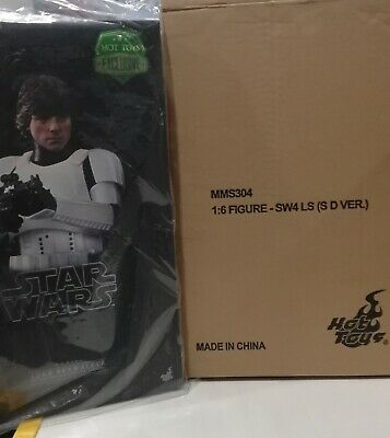 Star Wars EP.IV Mark Hamill Luke Skywalker 1/6 Hot Toys EXCLUSIVE MMS304 RARE!