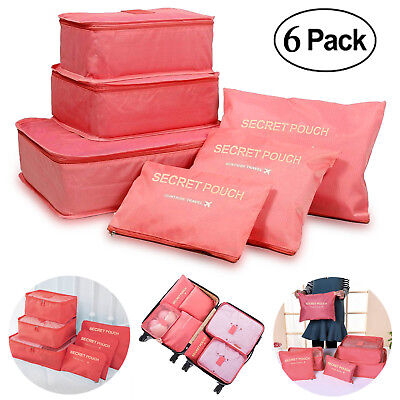 Large Storage Bag Packing Cube Travel Luggage Clothes Organizer Pouch, Foldable