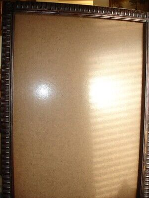 Antique Carved  Extra Large Wooden Picture Frame Arts & Crafts Style