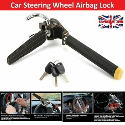 Car Top Mount Steering Wheel Lock Anti Theft Airbag Security Safe Device 3 Keys