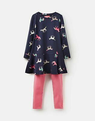 Joules Girls Iona Tunic And Legging Set 1 6 Years in NAVY HORSES Size 1yr