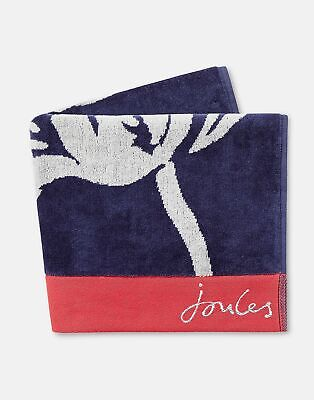 Joules Home Cotton Towel in NAVY FLORAL