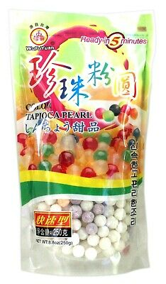 2 X Pearls for Bubble tea drink _ WuFuYuan Tapioca Pearl 250g (Colour) AU Seller