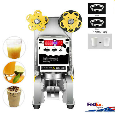 Store shop  Electric Fully Automatic sealer Paper/Plastic cup sealing machine US