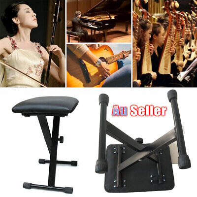 Piano Stool Keyboard Seat Black Folding Chair Adjustable 3 Way Portable ACB#