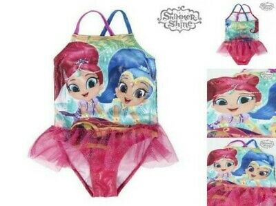 Girls BNWT Pink Shimmer and Shine Swimming Costume age 18-23 months QE335