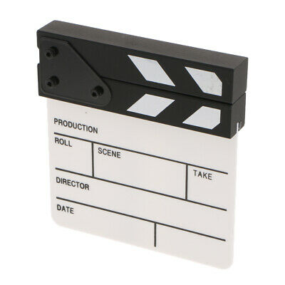 Clapboard for Party Role Play Props Movie TV Film Making Kit Acrylic Wooden