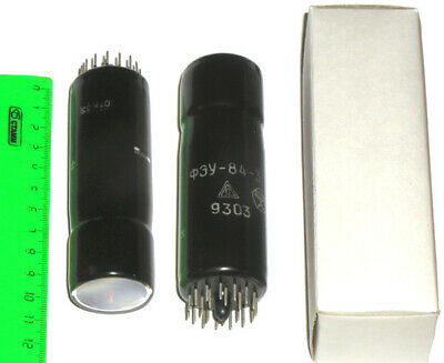2x rare photomultiplier tube FEU-84 FEY-84 USSR фэу-84 Scintillator 2pcs. in lot