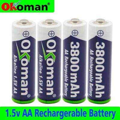 1~20pcs AA rechargeable battery 1.5V  3800mah for torch toys clock MP3