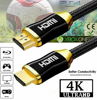 PREMIUM UltraHD HDMI Cable v2.0 0.5M-5M High Speed 4K 2160p 3D Lead for PS3 HDTV