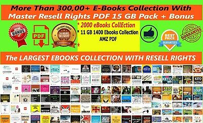 300,000+ EBooks PLR Collection with MRR PDF+3400 Ebooks +13 Million Emails 25GB+