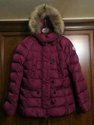 Moncler Women Down Jacket Hooded Fur Size 164 cm or 14 years or 0 or XS Padded