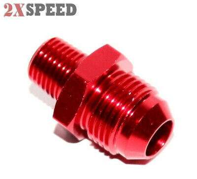 -8AN Male to 1/4NPT Male Thread Aluminum Hose End Fitting Adapter Red New Brand
