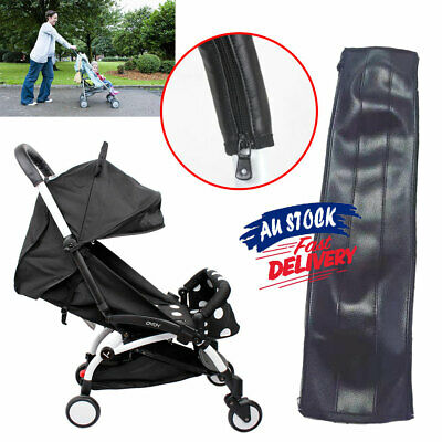 Baby Cover Stroller Pram Handle Bar Accessories PU Leather Protective Grip Case