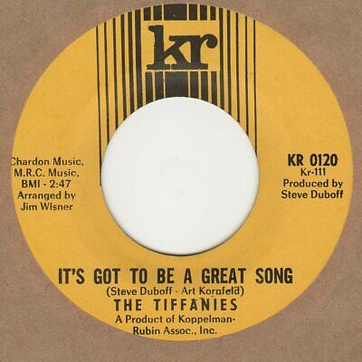 Tiffanies It's Got To Be A Great Song KR 0120 Soul Northern Reggae
