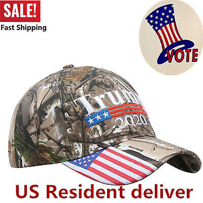 President Donald Trump 2020 Cap Camouflage USA Flag Baseball Cap Hat Make Great