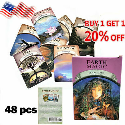 Magic Oracle Cards Earth Magic Read Fate Tarot 48-card Deck Set 50%OFF~BEST SALE