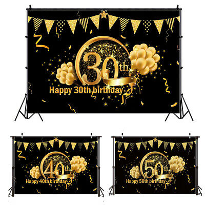 30/40/50th Photography Backdrop Background Studio Prop Birthday Party Decor