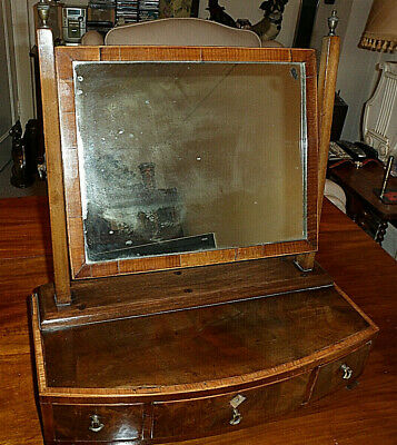 Antique Georgian/Early Victorian Dressing Table Mirror with 3 Drawers c. 1830