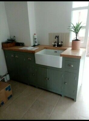 Bespoke handmade painted farrow and ball Kitchen Cabinets for less than b&q!