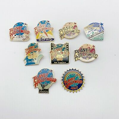 Planet Hollywood Lapel Pin Lot of 9 - Chicago SF San Diego New York Melbourne DC