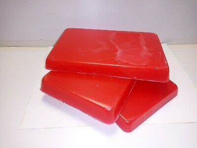 """""""""""9kg"""""""" RED UNSCENTED CANDLE WAX,wicks and basic instructions"""