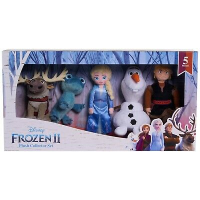Frozen 2-Mini Plush Toy Set-5 pcs-Bruni/Salamander+Olaf+Sven+Kristoff+Elsa