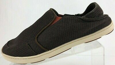 OluKai Nohea Mesh Loafers Casual Brown Comfy Walking Moc Toe Moccasin Mens US 10