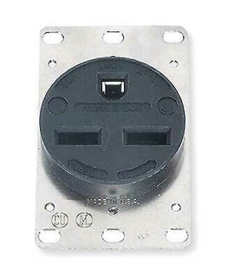 HUBBELL  Thermoplastic Polyester Receptacle,Single,30A,6-30R,250V,Black, HBL9330