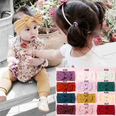 Baby Girls Boys Kids Toddler Bow Hairband Headband Stretch Cloth Knot Head Wrap