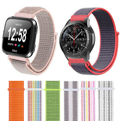Universal 22mm Fashion Woven Nylon Sport Loop Watch Band Strap New