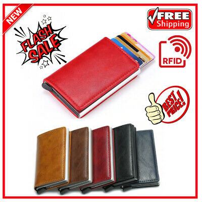 Wallet For Men Minimalist Wallets Credit Card Metal RFID Blocking Money Purse