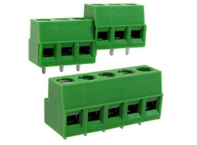 3-way Pro PCB Terminal Block 5mm Pitch PCB Mount Pack of 10