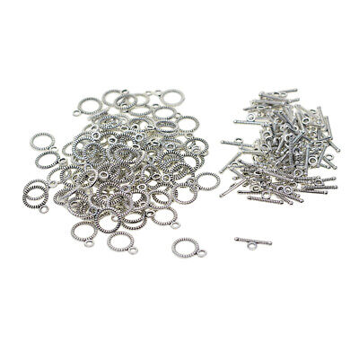 100pcs Alloy OT Toggle Clasp Engraved Vintage Tibet Silver Jewelry Connectors