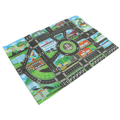 City Traffic Road Play Mat for Car Train Toy Baby Kids Crawling Rug Carpets Toy