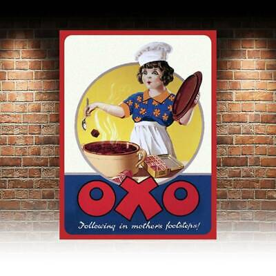 OXO Vintage Old Retro Advert METAL WALL SIGN PLAQUE Kitchen poster print.