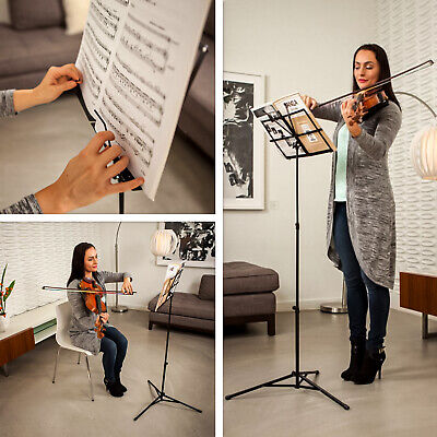 Portable Height Adjustable Musical Orchestral Paper Holder Tripod Stand With Bag