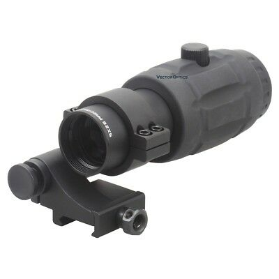 Vector Optics Tactical 5X Magnifier Scope for Red Dot Sights Flip to Side Mount
