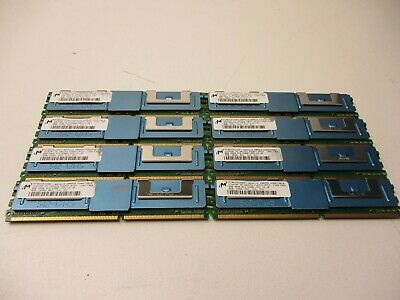 Micron 8GB 2RX4 PC2-5300F  DDR2 MT36HTS1G72FY-667A1D4 Server RAM LOT OF 10