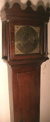 "Antique Mahogany Brass  /  Dial ""  Rugby ""   Longcase / Grandfather Clock"