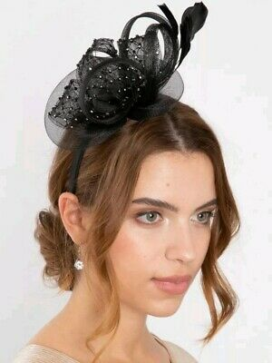 Black fascinator headband