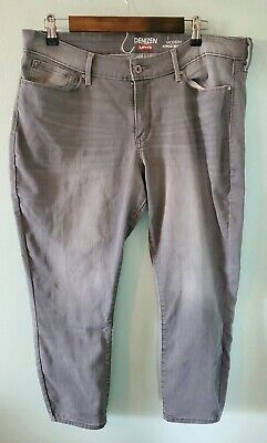 Denizen from Levi's Women's Size 18 Gray Modern Mid Rise Ankle Skinny Jeans