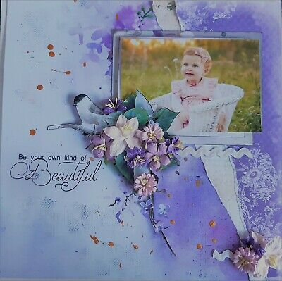 12 x 12 Handmade Scrapbook Page - Be Your Own Kind of Beautiful