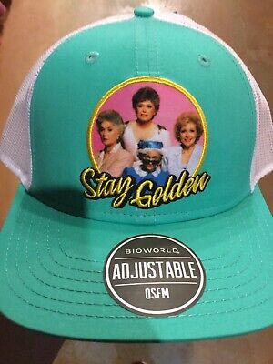 The Golden Girls STAY GOLDEN EMBLEM SnapBack Hat. Brand New. One Size Fits All