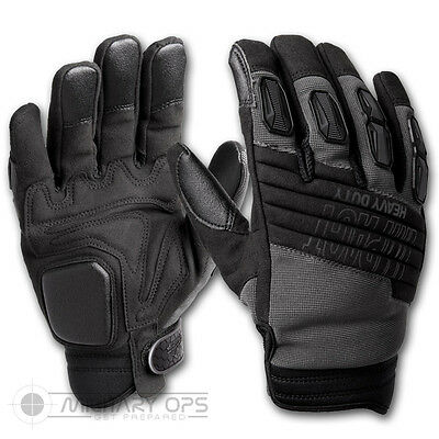 Helikon Impact Heavy Duty Gloves Black Army Military Shooting Cold Weather