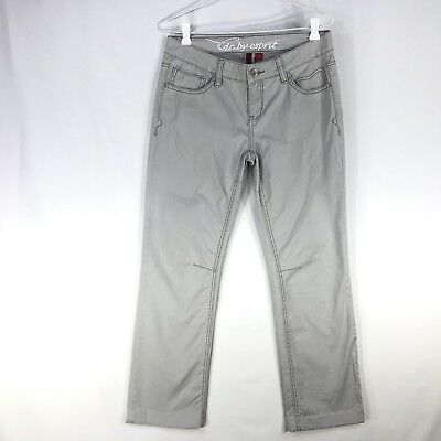 Esprit EDC Women's Trouser Pants Straight Leg Size 10 Washed Out Grey Chinos